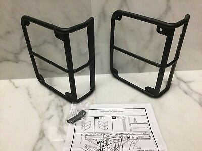 Mopar Pair of 2 Black Tail Lamp / Light Guard Kit 82210270AD 07-17 Jeep Wrangler