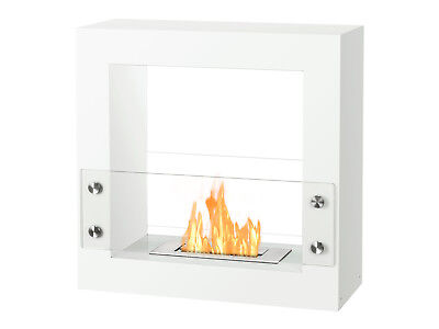 Tectum Mini White - Ignis Ventless Freestanding Bio Ethanol Fireplace