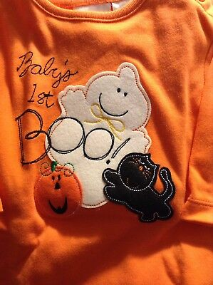 New infant Halloween Baby's 1st BOO One piece size 6/9 months