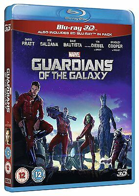 Guardians of the Galaxy 3D + 2D Blu-Ray USED Free Ship