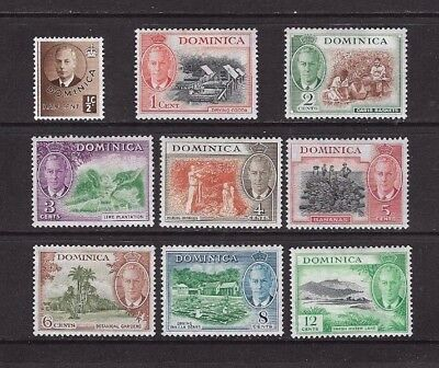 Dominica  Stamps x 9 1/2c to 12c 1951 Mounted Mint.