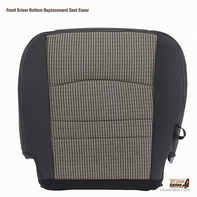 2009 2010 Dodge Ram 5500 SLT DRIVER Bottom Replacement CLOTH Seat Cover GRAY