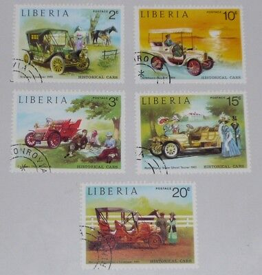 stamps - Liberia - historical cars