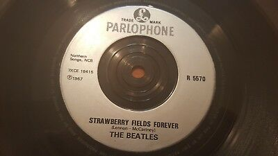 Beatles Strawberry Fields Silver Injection Parlophone 1990 Single(Rare)!