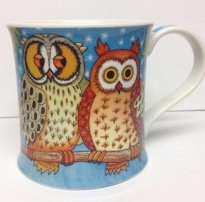 Detailed Dunoon Owl Stoneware Mug Jane Brookshaw Design