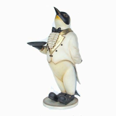 Penguin Butler in Tux Standing Resin Oversize Display Decor Winter Theme