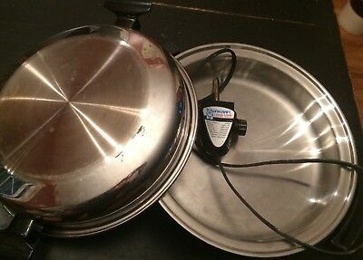 townecraft oil less electric skillet