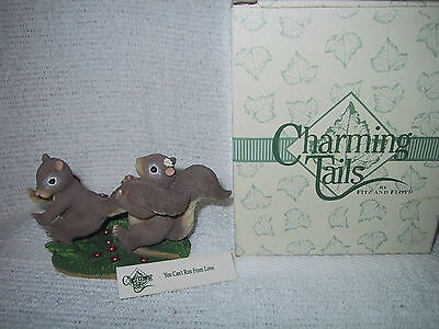Charming Tails You Can't Run From Love   W/ Box 84/104  Fitz & Floyd No Date