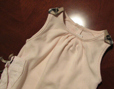 Burberry baby.body pink-beige.babygrow1-3 months.100% cotton.100% authentic!EUC!