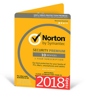 Norton Internet Security Premium 2018 10 Device 10 PC 1Year PC MAC Android 2017