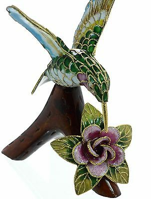 Cloisonne Of Oriental Treasures by D.S.STARR Humming Bird NIB