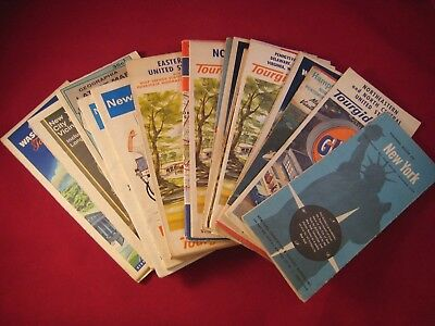 Lot of Vintage 1950s-1960s US East Coast Road Maps - Gulf Esso Shell