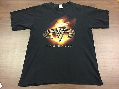 Vintage Van Halen Men's Black Band T-Shirt – Medium