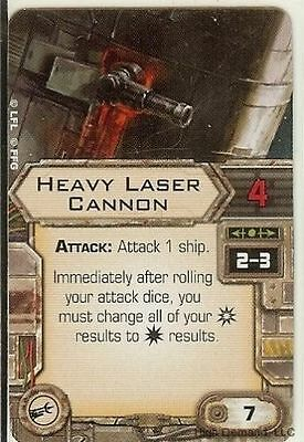 Star Wars X-wing Miniatures Heavy Laser CANNON upgrade card