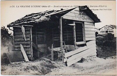 Rare Original Wwi 1914-17 La Grand Guerre French Postcard #1158 Bombing Verdun