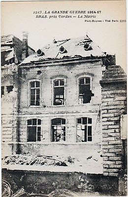 Rare Original Wwi 1914-17 La Grand Guerre French Postcard #1213 Bombing Verdun