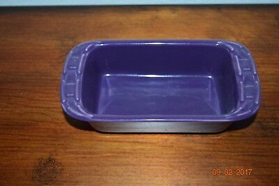 New Longaberger Pottery Mini Loaf Pan Woven Traditions Eggplant Purple