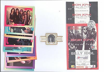 Bon Jovi Collection Unused Concert Ticket - Collector Card Set -  Cigar Band