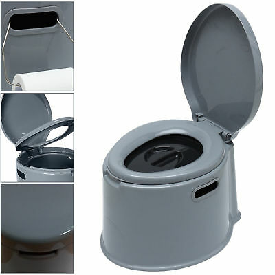 5L Portable Toilet Compact Potty Loo Travel Camping Caravan Picnic Festivals 5 L