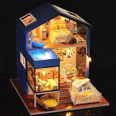 DIY Handcraft Project Wooden Dolls House My Little Villa in Seattle Yellow Car