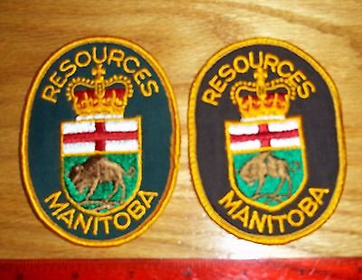2 MANITOBA RESOURCES PATCHES,environment,parks,police,security,hunting,fishing