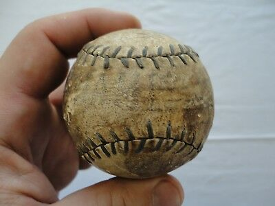 Antique Leather Baseball with Black or Blue stitches signed faintly CHAMPION