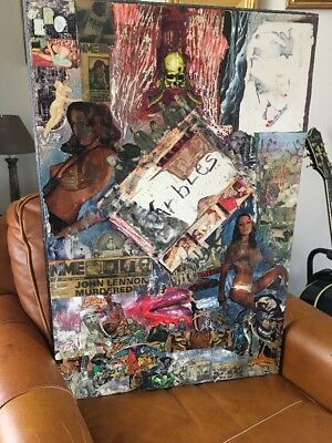 Peter Wolfe (Wolfman) Pete Doherty Renown  Recording Artist Mixed Media Collage