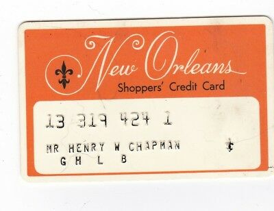 Vintage New Orleans Shoppers' Credit Card - Free Shipping