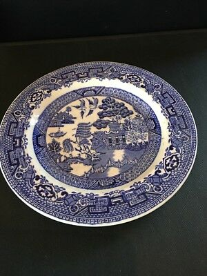 Woods & Sons Antique Willow Pattern Small Plate Blue And white Woods ware