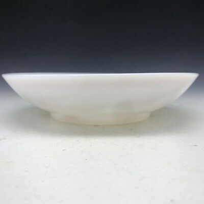Collect old Beijing glass bowl hand-painting old man and children qianlong mark