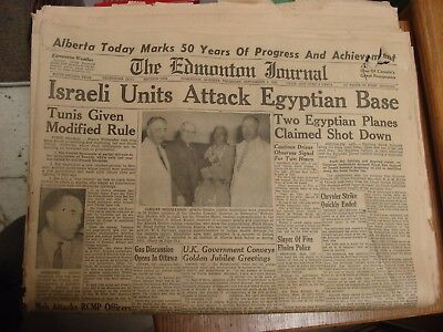 complete Edmonton Journal Sept1 1955 GOLDEN JUBILEE 50 Years Of Progress ALBERTA