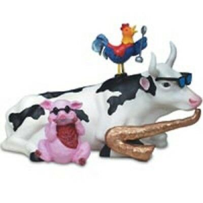 2001 Cow Parade #9141 - Mixed Plate Blues (Retired)