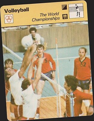 1979 Volleyball World Championships Sportscaster Card #81-15 A Printing Mint