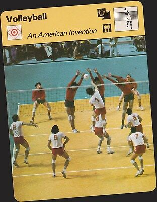 1977 Volleyball American Invention Sportscaster Card #04-19 First Printing Mint