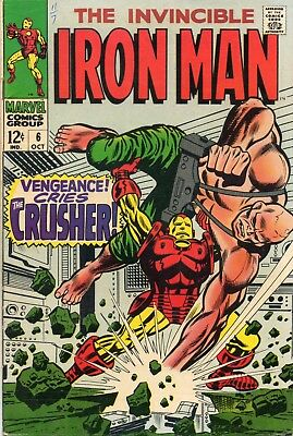 1968 Marvel Comics Iron Man #6 - Unread - Silver Age / B&b