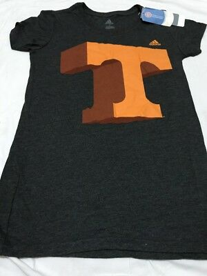 Women's Charcoal Adidas T Letter Small Tshirt Slim Fit New