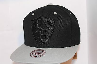 huge discount ce82d a49f0 Brooklyn Nets Mitchell   Ness NBA XL Tonal Snapback Cap,Hat   31.99