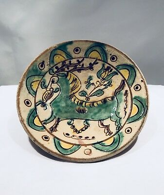 Antique Pottery , signed pottery, antique ceramic, vintage ceramic pottery clay
