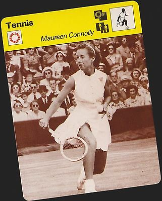 1978 Maureen Connolly U.k. Sportscaster Card #13 064 15-19 First Printing Mint