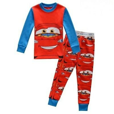 Kids boys Auto Story sleepwear 2T baby Long-sleeved pants pajamas nightclothes