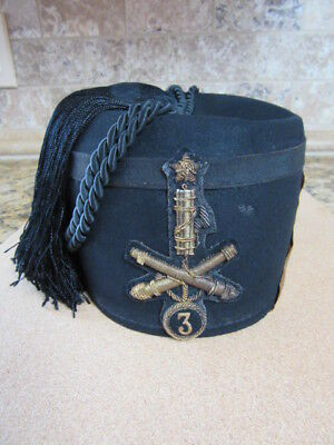 Beautiful Original Italian Fascist Coastal Defense Militia (Coast Artillery) Fez