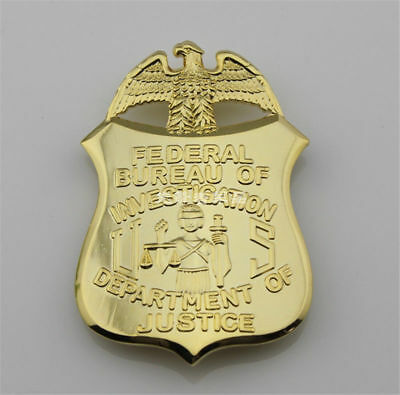 5.2X7.3Cm Us Department Of Justice Badge Federal Bureau Of Investigation Brooch