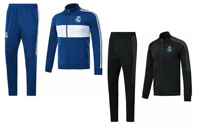 Real Madrid soccer jacket suits full zip winter hoody outdoor football tracksuit