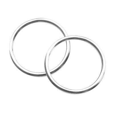 2pcs 40mm Smooth Welded Strong 316 Stainless Steel Round O Ring Boat Marine