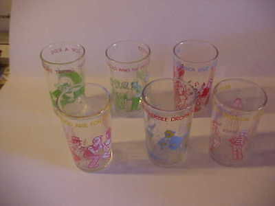 1970s 6 Welch's Archie Friends Glasses Jelly Jam