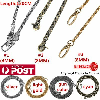 NEW Metal Purse Chain Strap Handle Shoulder Crossbody Bag Handbag Replacement AU