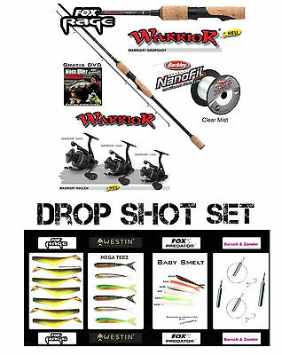 Méga DS LOT FOX RAGE DROP SHOT nrd187 + REEL 1000+100mnanofil+26 pièces