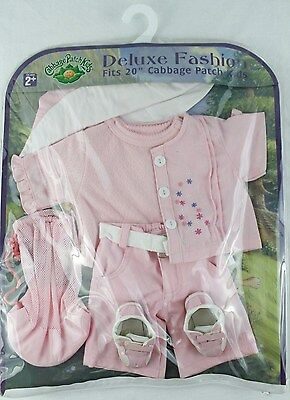 """CABBAGE PATCH KIDS Deluxe Fashion Pink 20"""" Doll Clothes Shirt Pants Sweater Hat"""