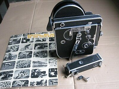 Bolex Reflex 16MM movie camera w/Multifocal Viewfinder, Rewind, Bolex Booklet
