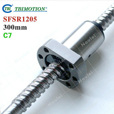 TBI Wholesale 12mm Ball Screw Rolled C7 L=300mm with Ballscrew Nut SFSR1205